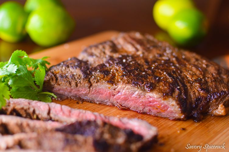 Citrus marinated skirt steak recipe on food