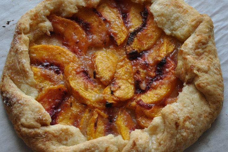 Mini Rustic Peach Tart