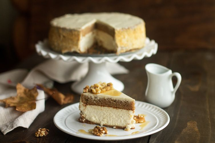 Layered Maple Cheesecake
