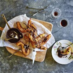Churros with Chocolate-Sherry Sauce