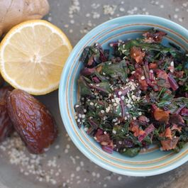Beet Greens With Ginger And Dates