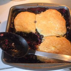 Corny Blueberry Cobbler