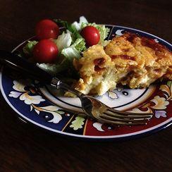 Corn, Cheese and Green Chili Pie