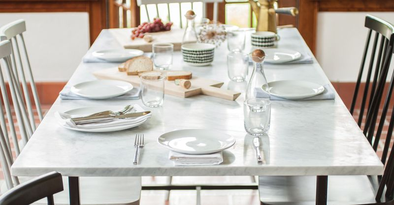 The Best Size And Shape For A Dining Table We Love - Things found on a restaurant table