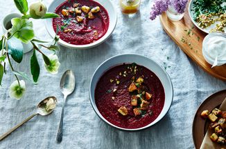 925407b3 33ff 4b93 b38f 9268cfe6fdad  2016 0503 roasted beet soup with beet green polenta croutons james ransom 013