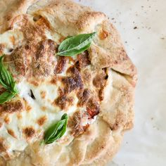 Heirloom Tomato Galette with Burrata