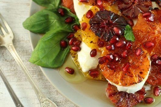 Mixed citrus caprese salad