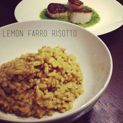 Lemon Farro Risotto