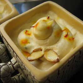 Shrikhand - A creamy yogurt pudding with cardamom