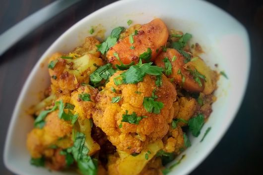 Aloo Gobi with sweet potatoes