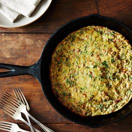Baked Onion-Walnut Frittata