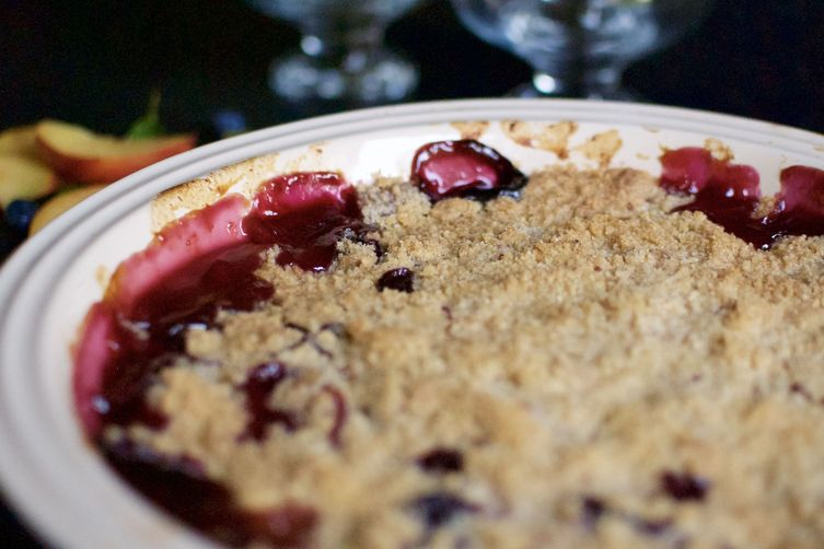 Peach & Blueberry Crumble