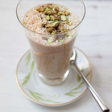 Date Shake with Toasted Nuts