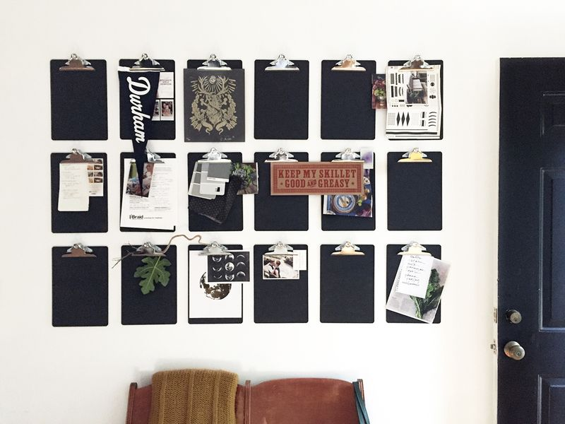 A Diy Clip Board Wall To Get You Organized Fast