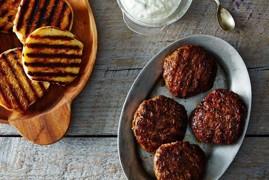 Pistachio Lamb Burger with Tzatziki