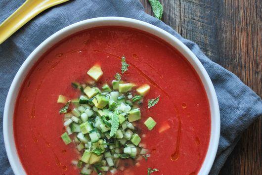 watermelon & habanero gazpacho