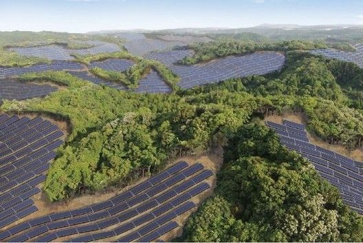 Abandoned Japanese Golf Courses Solar Farms Arch Daily