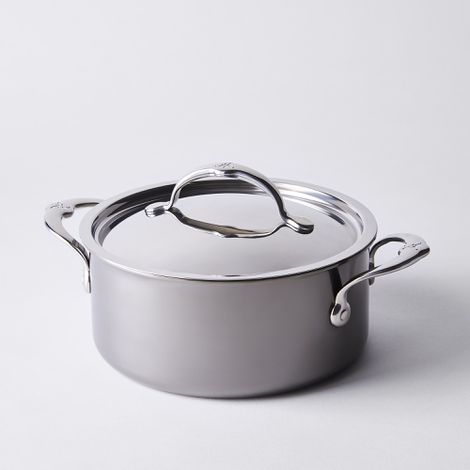 Hestan Nanobond Stainless Steel Soup Pot with Lid, 3QT