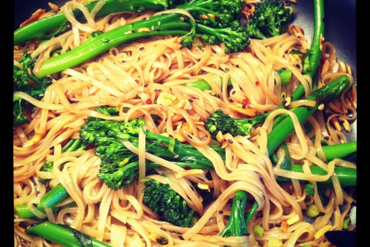 Asian Noodles with Broccolini