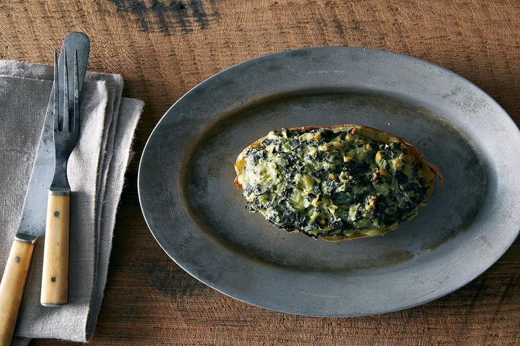 Twice-Baked Potatoes with Kale on Food52