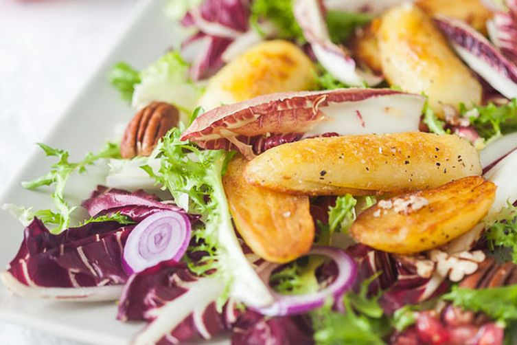 Hearty Radicchio Salad with Roasted Potatoes
