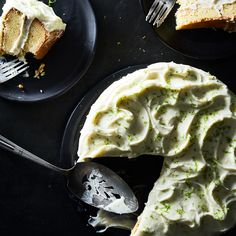 Rich Lemon Cake with Lime Cream Cheese Frosting