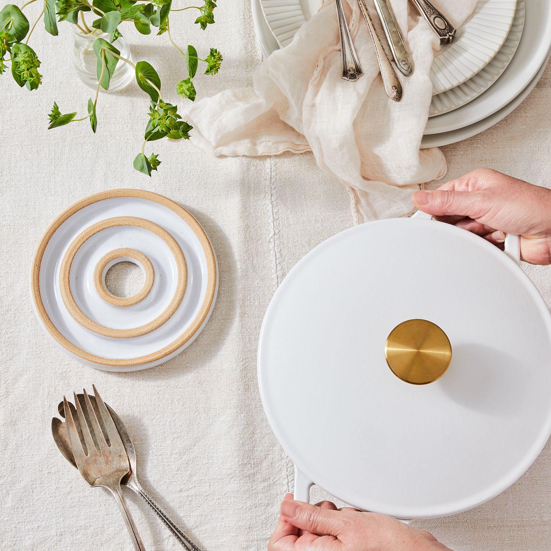 Farmhouse Pottery Handmade Ceramic Bullseye Trivet On Food52