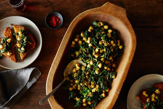 Dinner Tonight: Moro's Chickpeas and Spinach