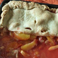 Nectarine & Peach Schnapps Pie