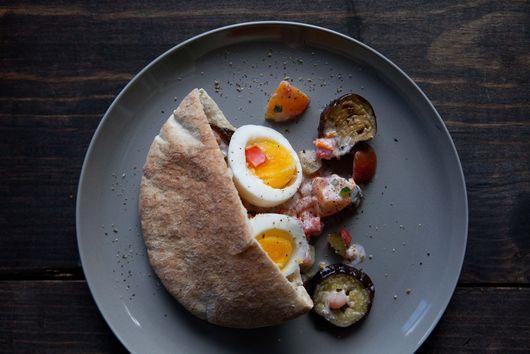 Egg & Eggplant Sandwich