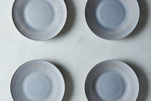 [OLD] Grey Swirl Glass Dinner & Cake Plates (Set of 4)