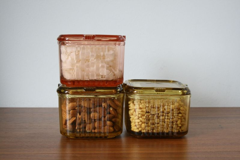 There's always room for a pretty storage container.