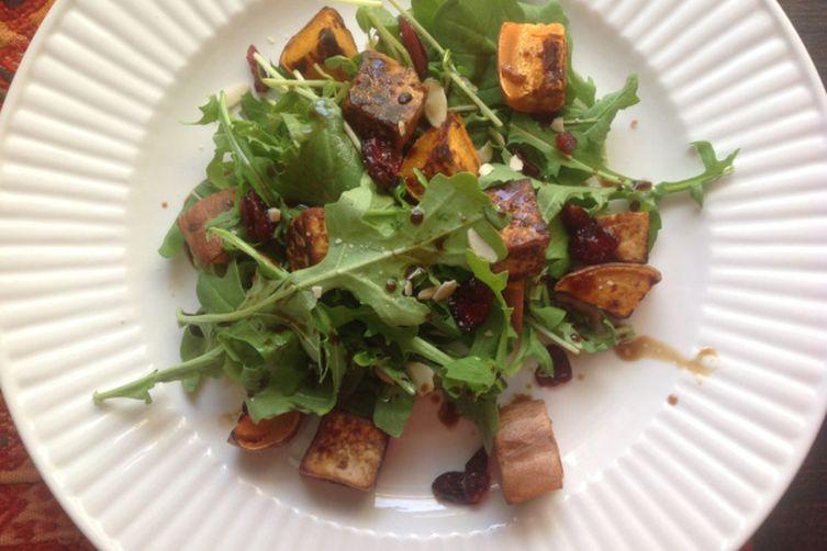 Sweet Potato and Tofu Almost-Thanksgiving Salad