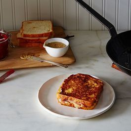 Ham & Cheese Gets Crossed with French Toast (and Smeared with Jam)