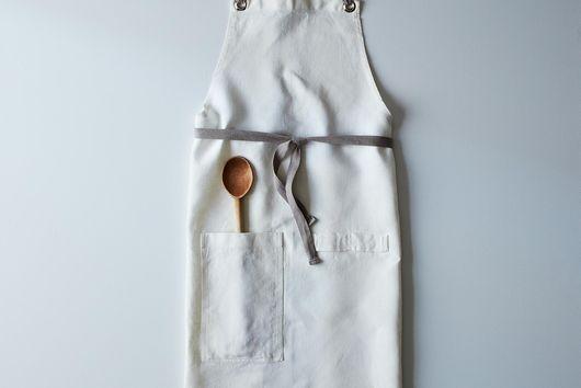Cross-Back Linen Kitchen Apron