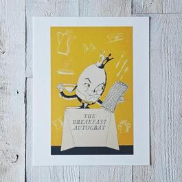 Vintage Menu Print: The Breakfast Autocrat