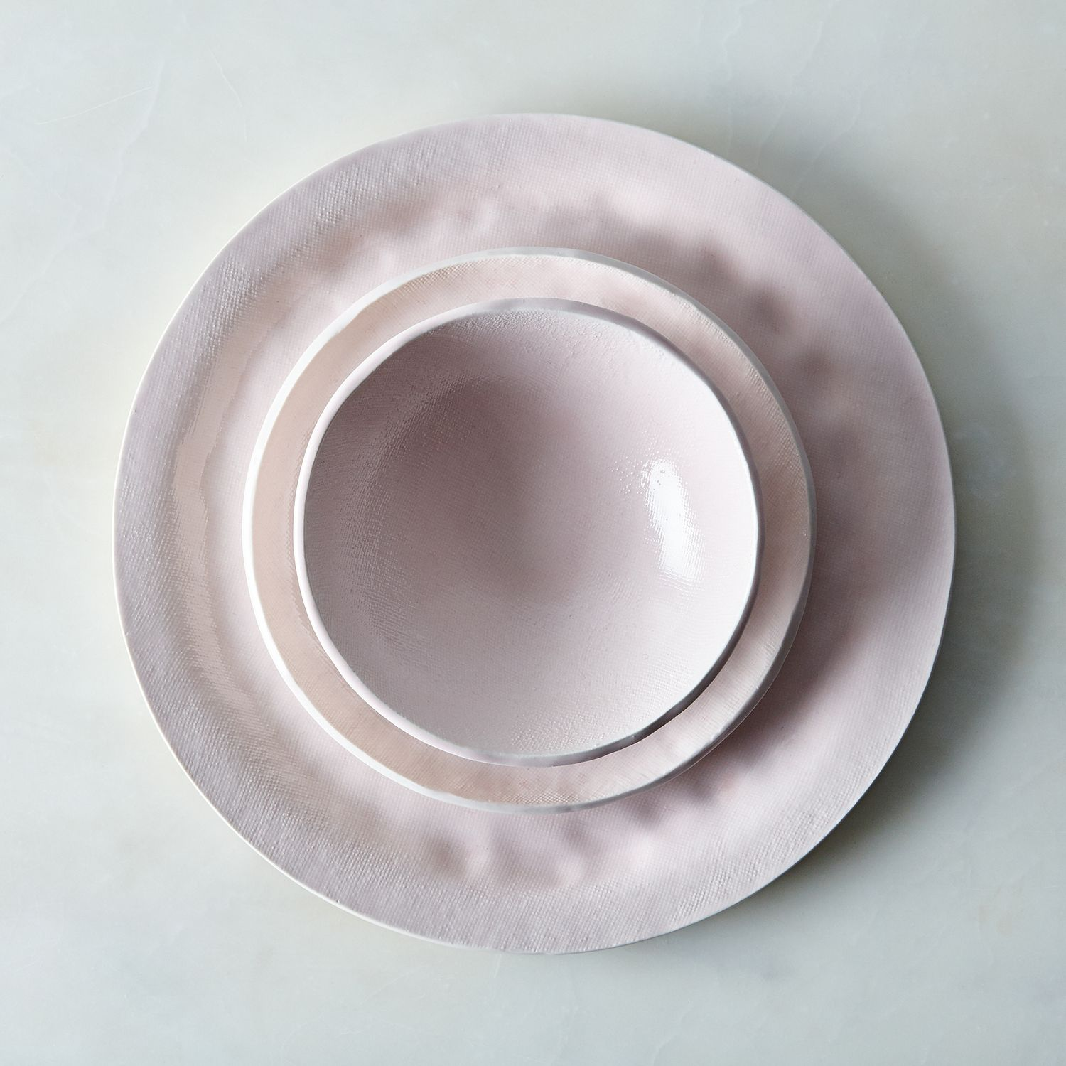 Food52 Pink Textured Porcelain Dinnerware Set By Looks