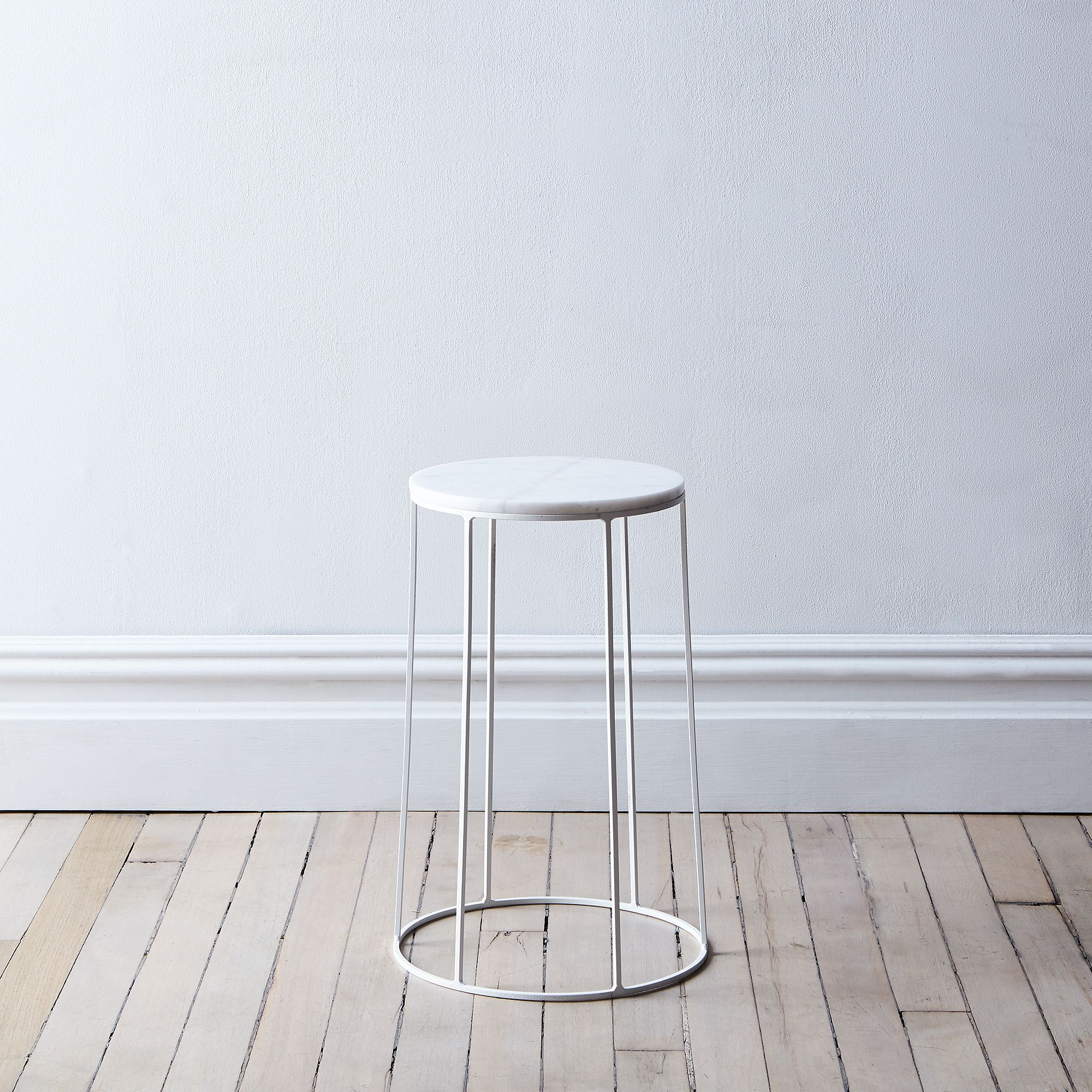Marble-Topped Wire Side Table on Food52