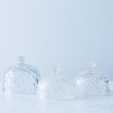 Vintage French Cut Glass Domes