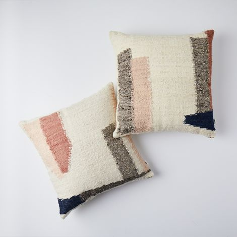 Minimal Abstract Wool Pillow
