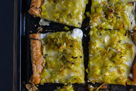Potato, Leek, and Goat Cheese Tart