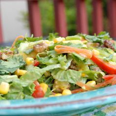 Mexican salad with chipotle lime dressing