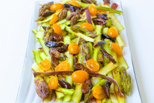 Shaved Purple Asparagus Salad with Kumquat Dressing