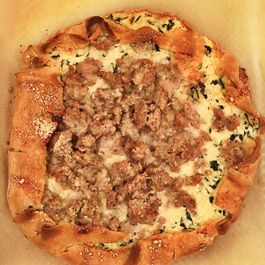 Ricotta, Kale and Chicken Sausage Tart