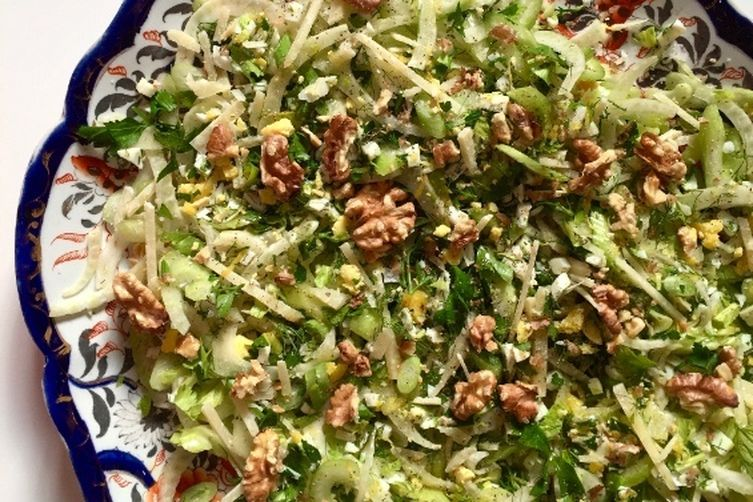 Shaved Fennel, Celery and Avocado Salad