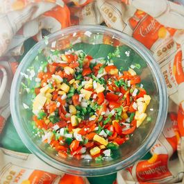 Smokey Peach and Tomato Salsa