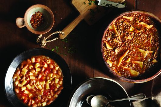 Sagne e lenticchie (pasta and lentils)