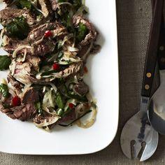Spicy Thai Steak Salad + Sesame and Coconut Sugar Cookies