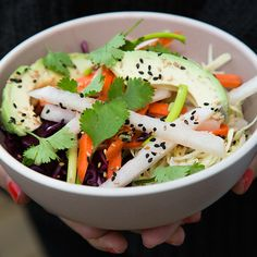 Cabbage Slaw with Miso-Honey Vinaigrette