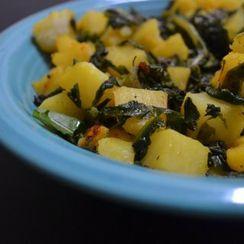 Sauteed potato & greens